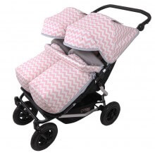 Conjunto 2ud Sacos y 2ud Capotas Silla Mountain Buggy Duet INDI RS. Velour Gris
