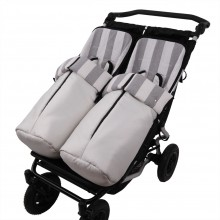 Conjunto 2ud. Sacos Silla Mountain Buggy Duet ARIES 2C. Ancha Gris