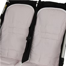 Conjunto 2ud.Colchoneta Mountain Buggy Duet Transpirable MIL ROSA