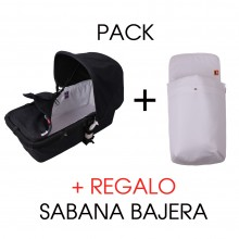 Pack Funda Capazo y Saco Capazo PIQUE BLANCO Bugaboo Camaleon
