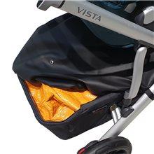 El diseño del Cubre Cesta Uppababy Vista 2020 te permite aprovechar mas el volumen de tu cesta.